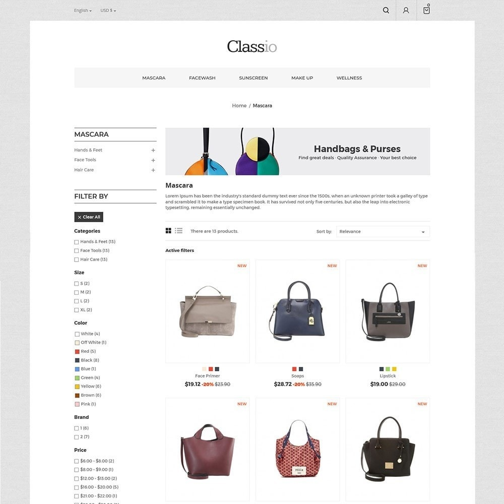 theme - Mode & Chaussures - Classio Bag - Magasin de mode - 4