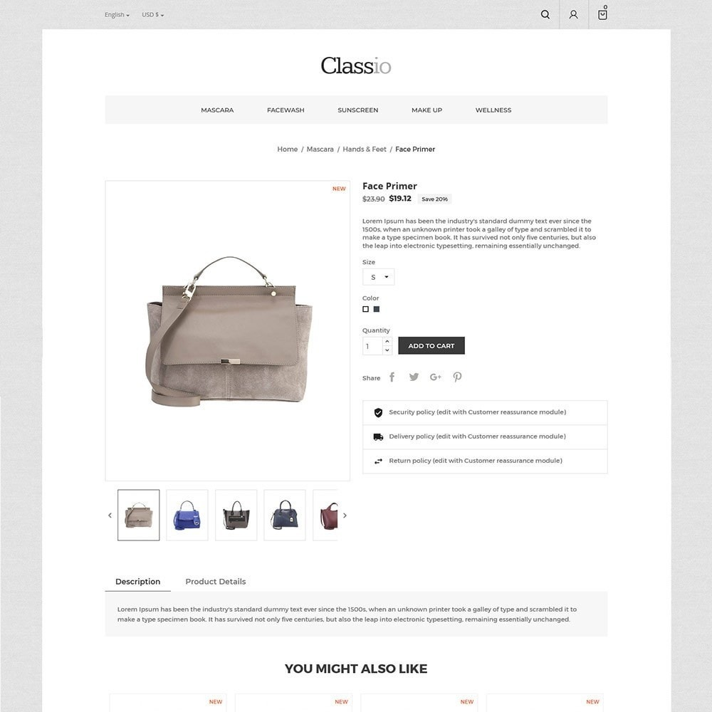 theme - Mode & Chaussures - Classio Bag - Magasin de mode - 6