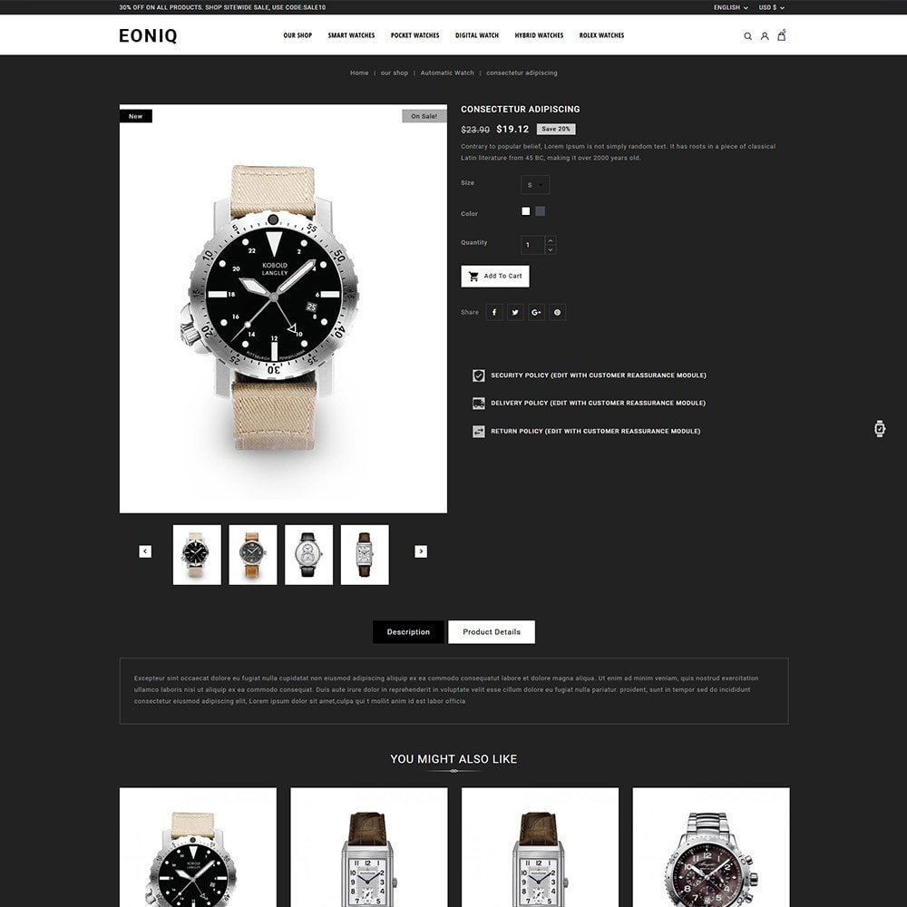 theme - Electronics & Computers - Eoniq - The Watch Store - 6