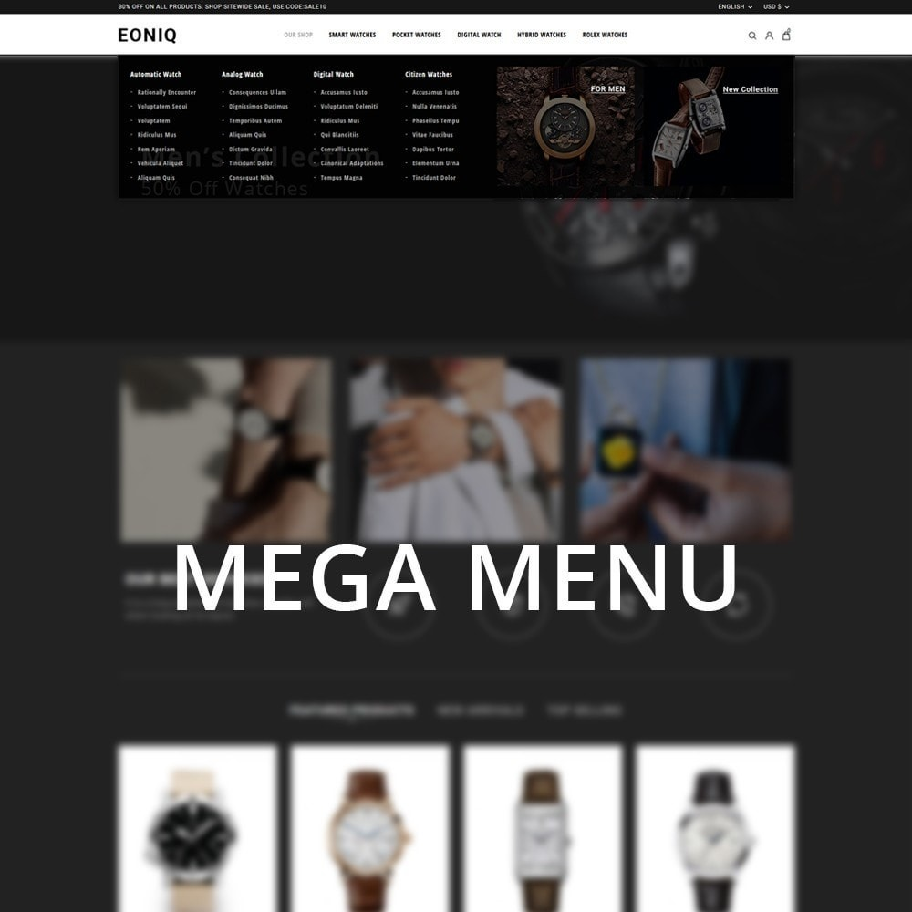 theme - Electronics & Computers - Eoniq - The Watch Store - 9
