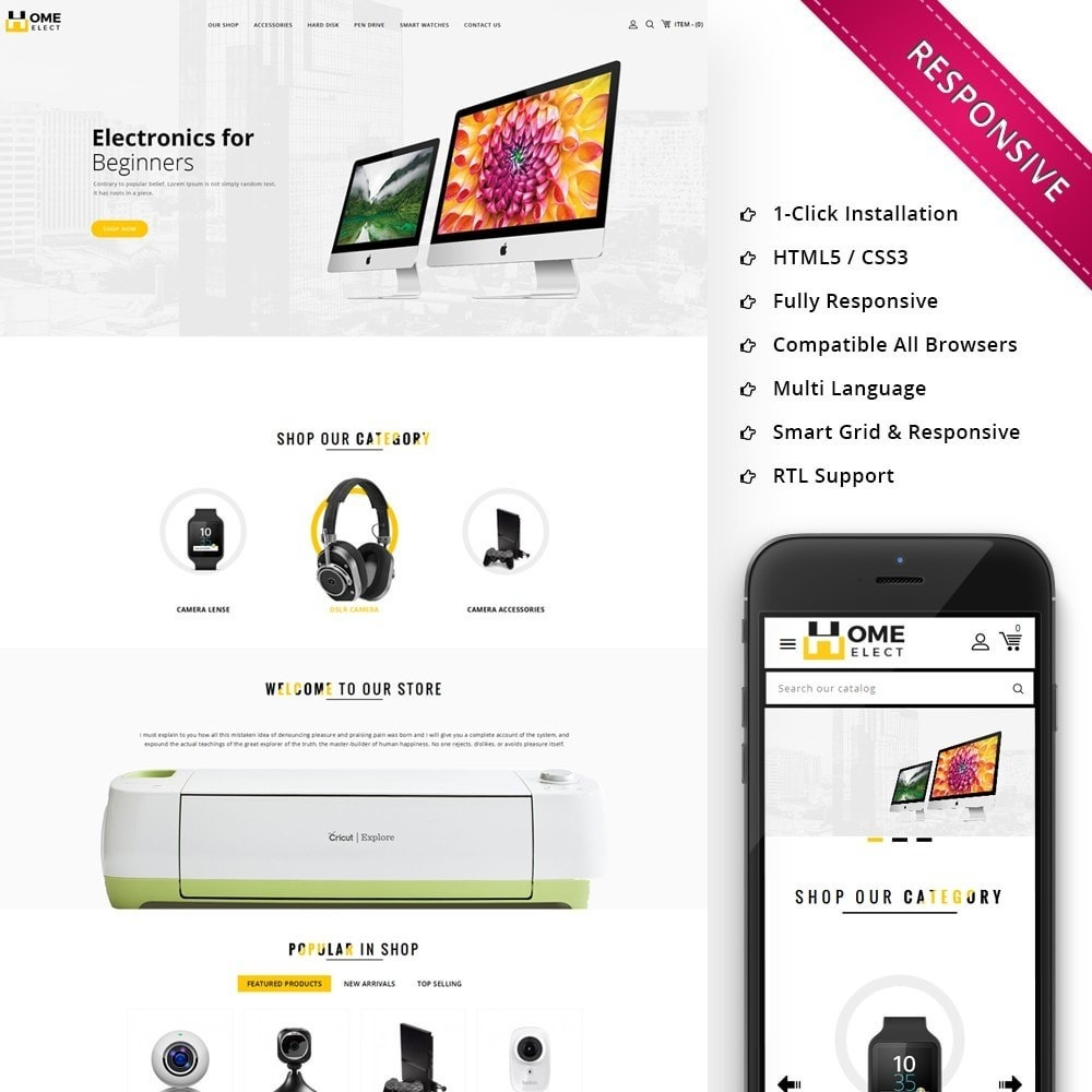 theme - Electronics & Computers - Homeelect - The Electronic Store - 1