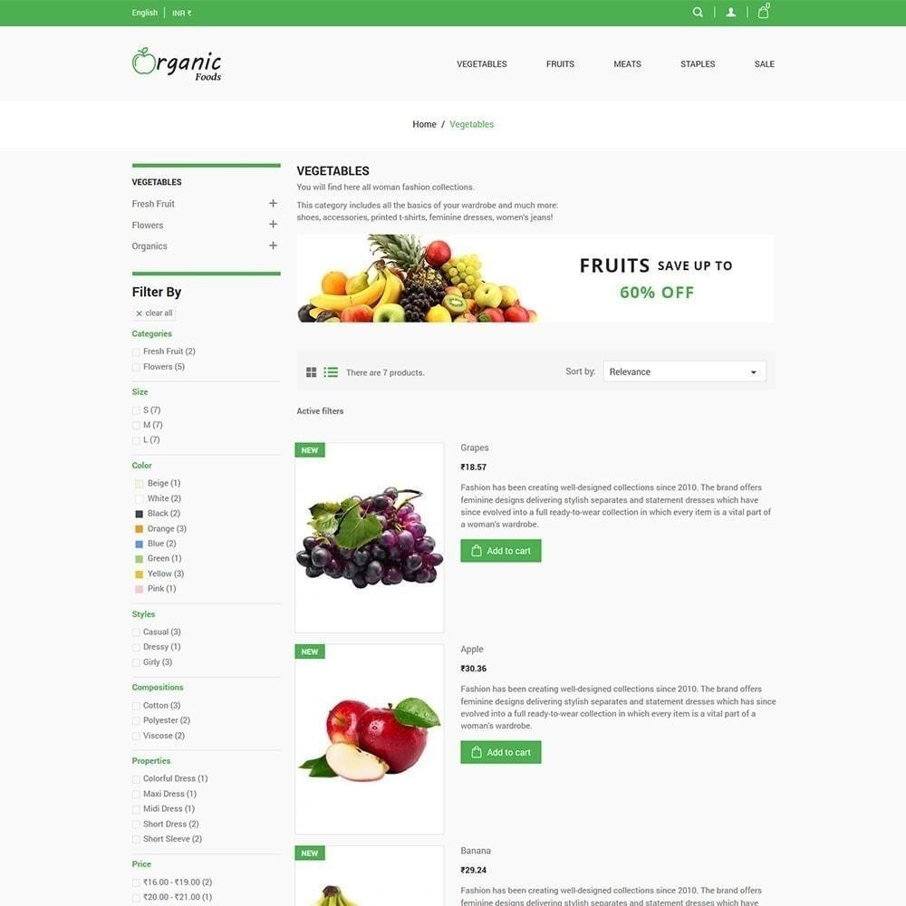 theme - Alimentation & Restauration - Magasin d'aliments biologiques - 5