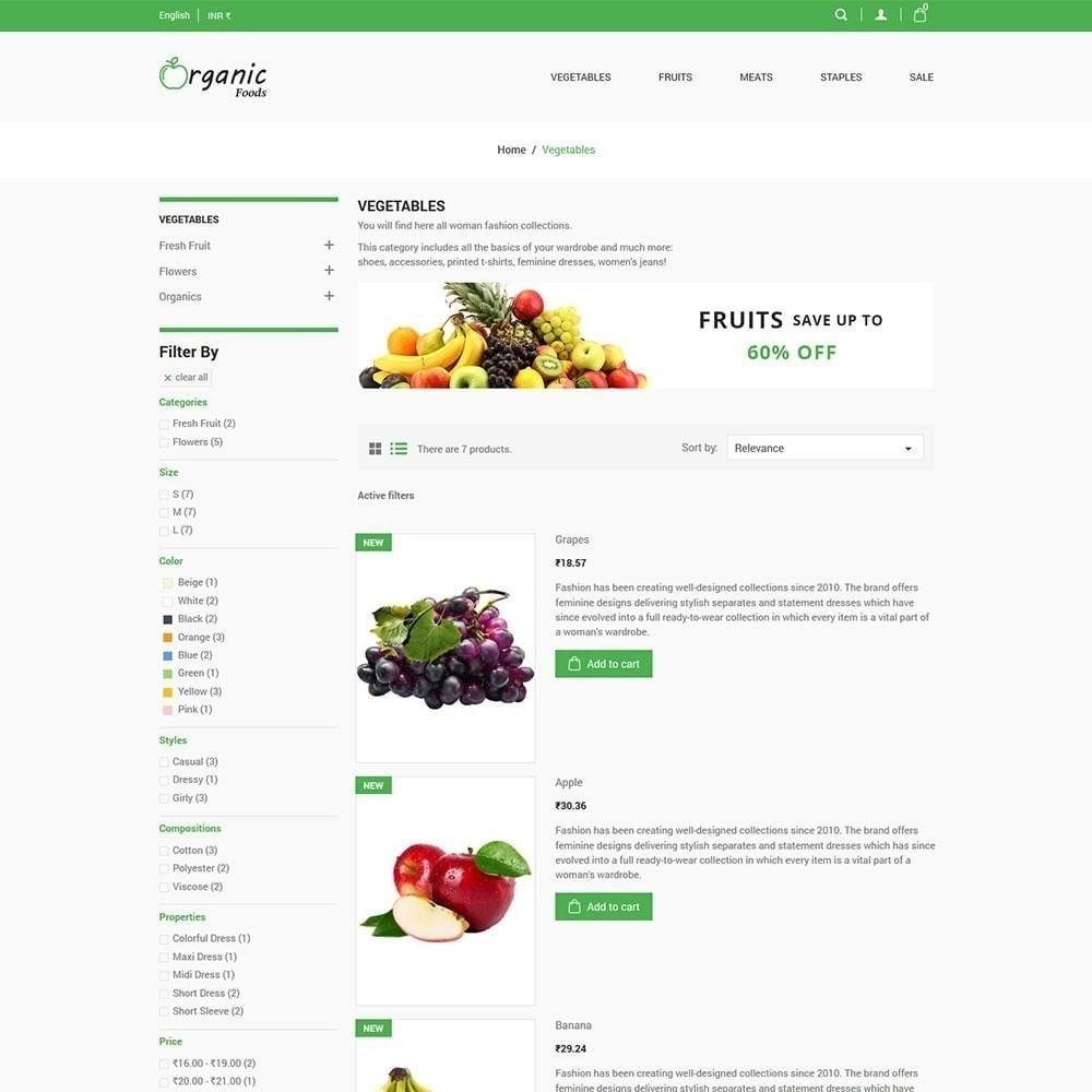 theme - Gastronomía y Restauración - Tienda de alimentos organicos - 5
