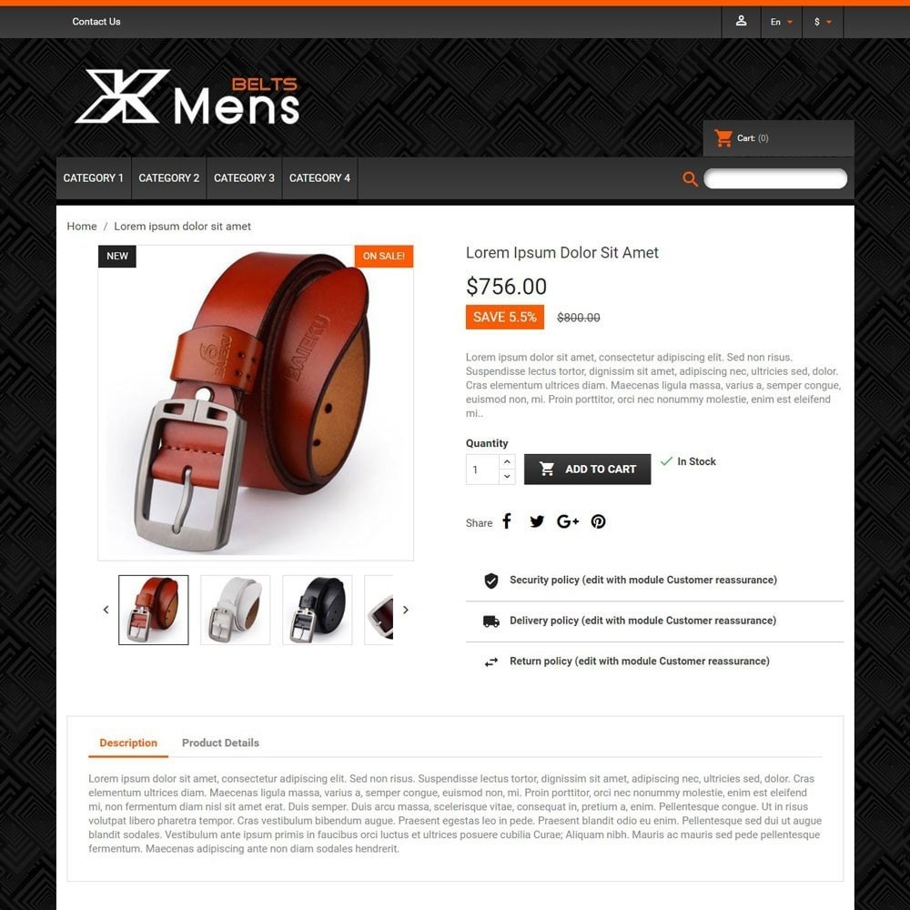 theme - Mode & Chaussures - MensBelts - 3
