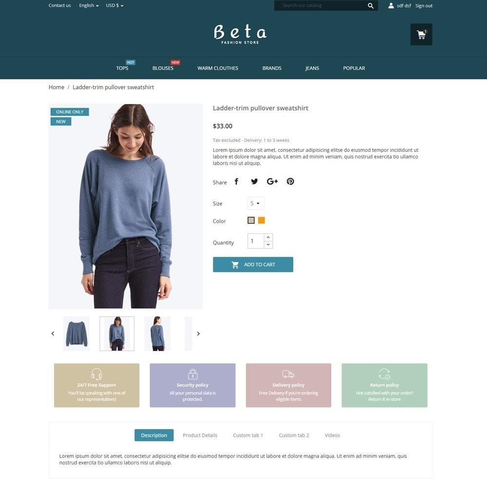 theme - Fashion & Shoes - Beta Fashion Store - 6