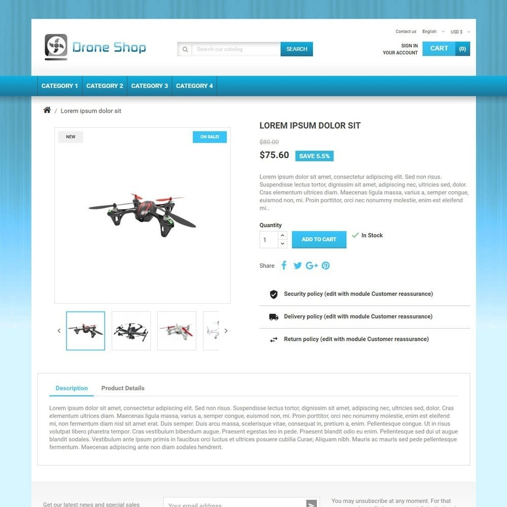 theme - Sports, Activities & Travel - DroneShop - 3