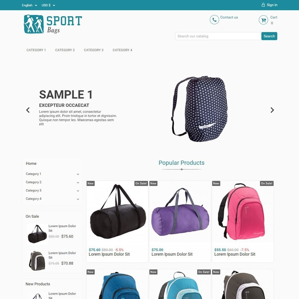 theme - Sports, Activities & Travel - SportBags - 1