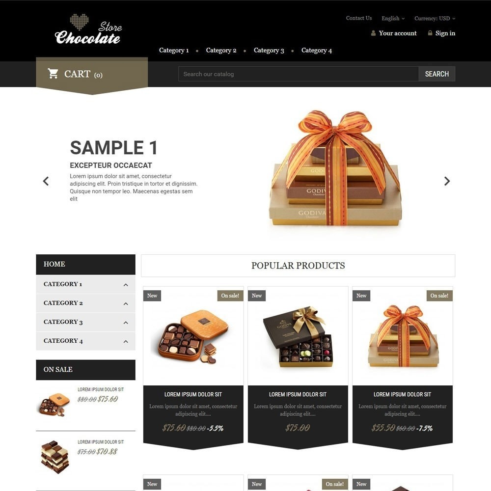 theme - Regalos, Flores y Celebraciones - ChocolateStore - 1