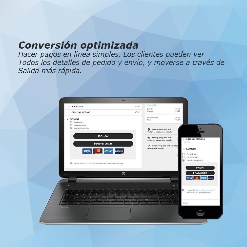 module - Pago con Tarjeta o Carteras digitales - PayPal Express Checkout - 4