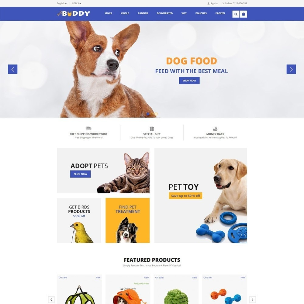 theme - Tier - Mybuddy - Pets Online Store - 2