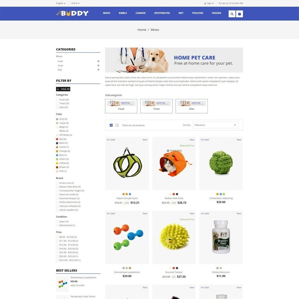 theme - Tier - Mybuddy - Pets Online Store - 3