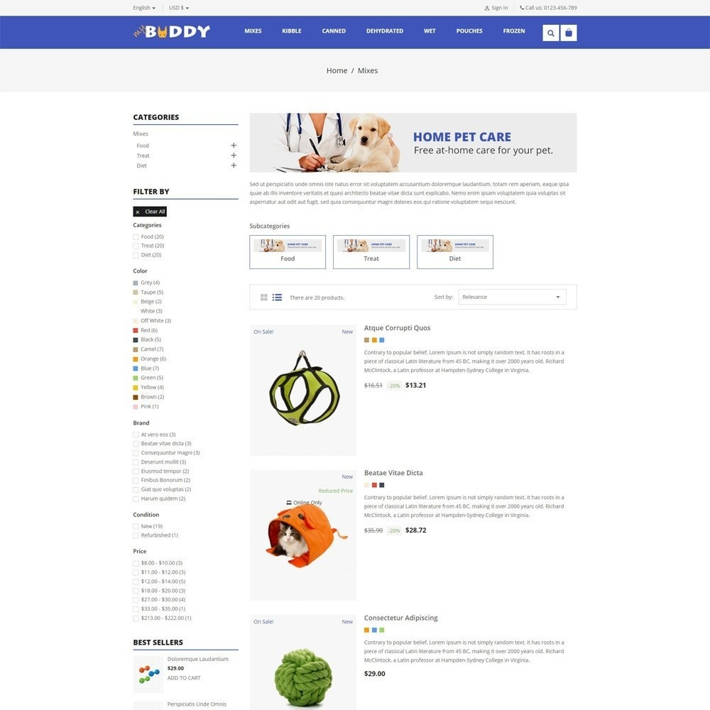 theme - Tier - Mybuddy - Pets Online Store - 4