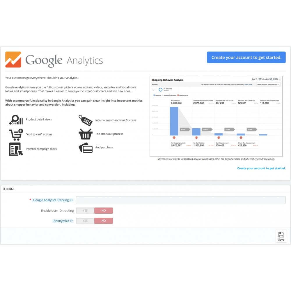 module - Analyses & Statistieken - Google Analytics - 1