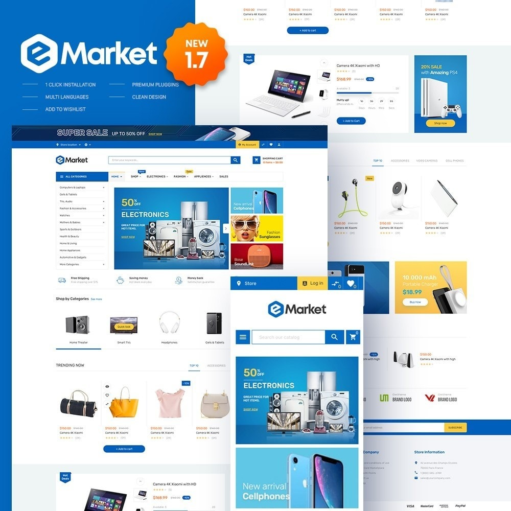 theme - Electronics & Computers - eMarket - Electronic Supermarket Store - 1