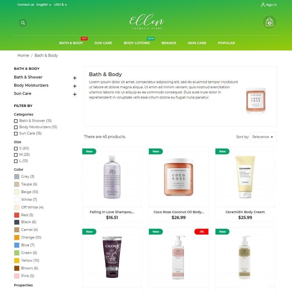 theme - Health & Beauty - Ellen Cosmetics - 6