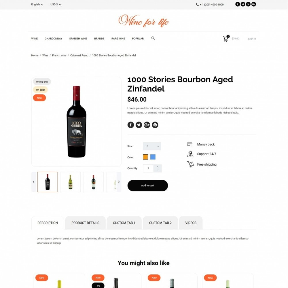 theme - Drank & Tabak - Wine for life Shop - 6