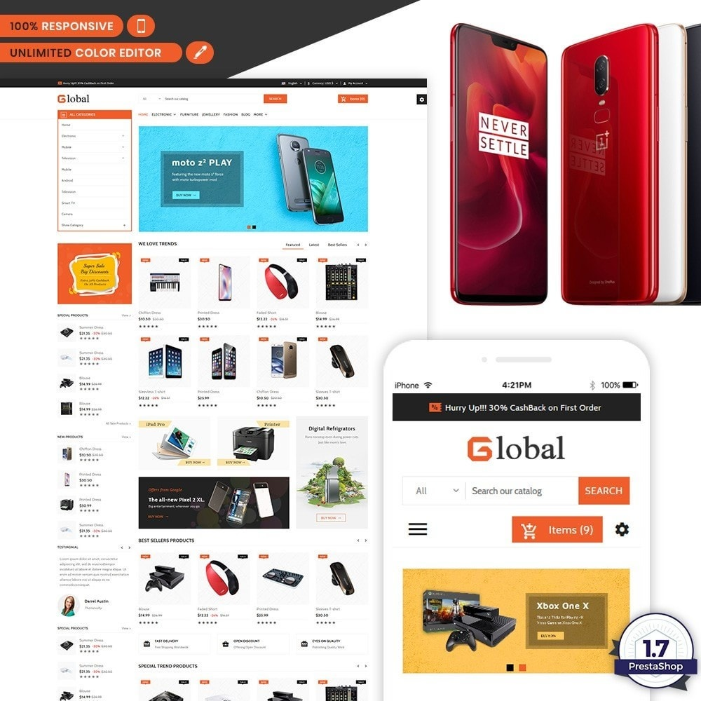 theme - Electronics & Computers - Elec Global - Electronic Multi Store Supported - 1