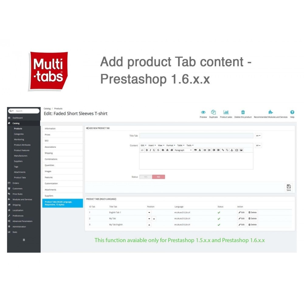 module - Internationaal & Lokalisatie - Product Tabs (Multi-Language, Responsive, 12 styles) - 1