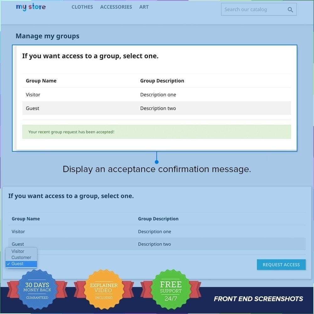 module - Inscripción y Proceso del pedido - Registro de Grupos de Clientes PRO - 6