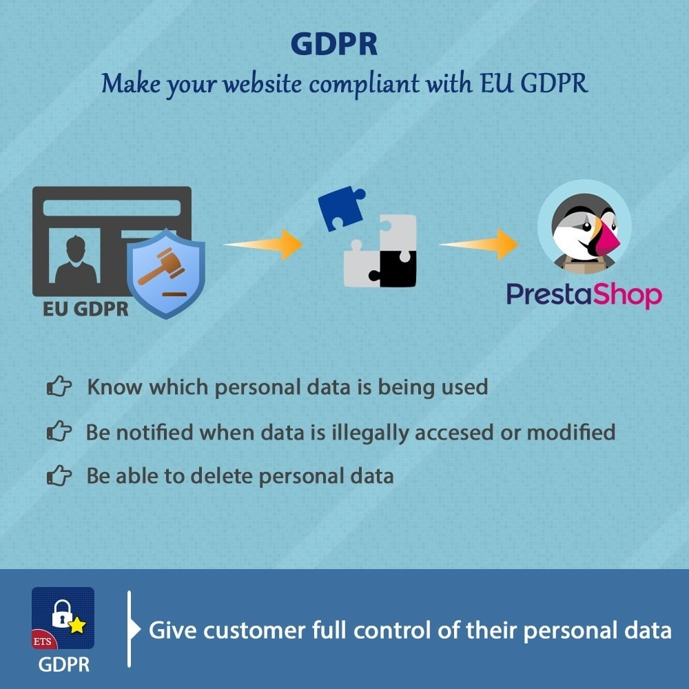module - Marco Legal (Ley Europea) - GDPR Compliance - EU Cookies Law Banner - 1