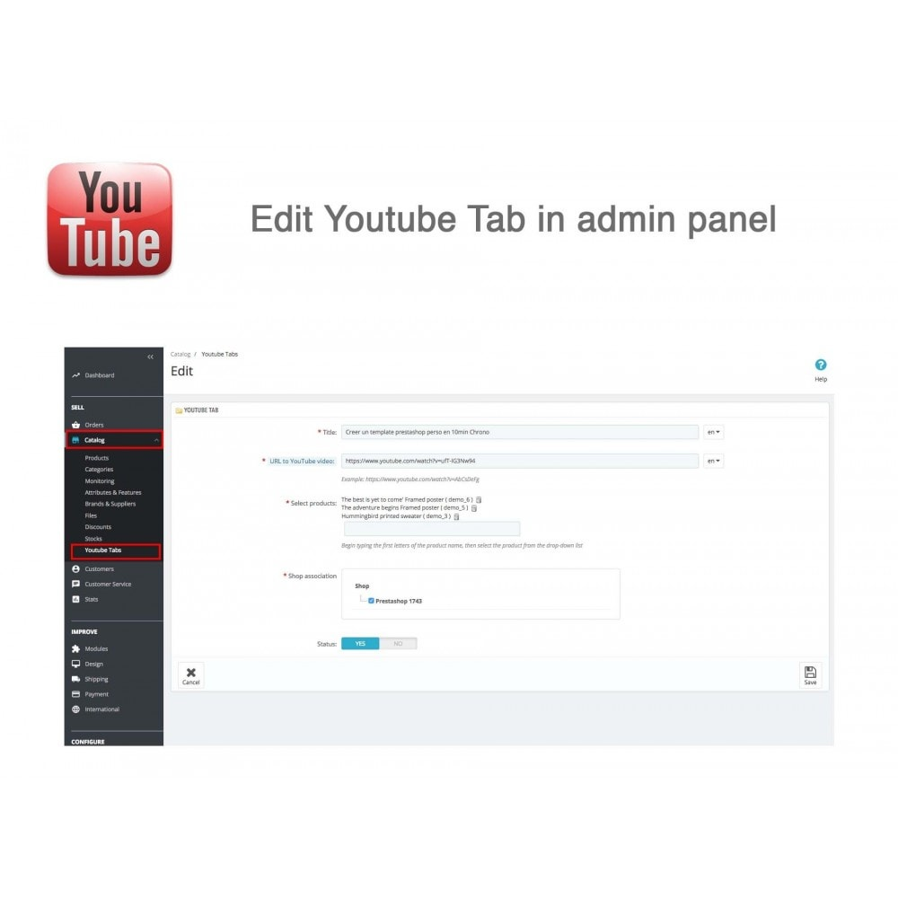 module - Bloki, Zakładki & Banery - Responsive Youtube Tabs + Block Last YouTube Video - 6