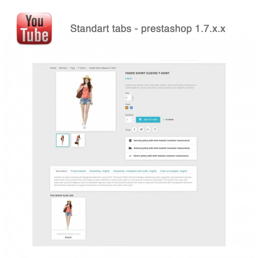 module - Bloki, Zakładki & Banery - Responsive Youtube Tabs + Block Last YouTube Video - 11