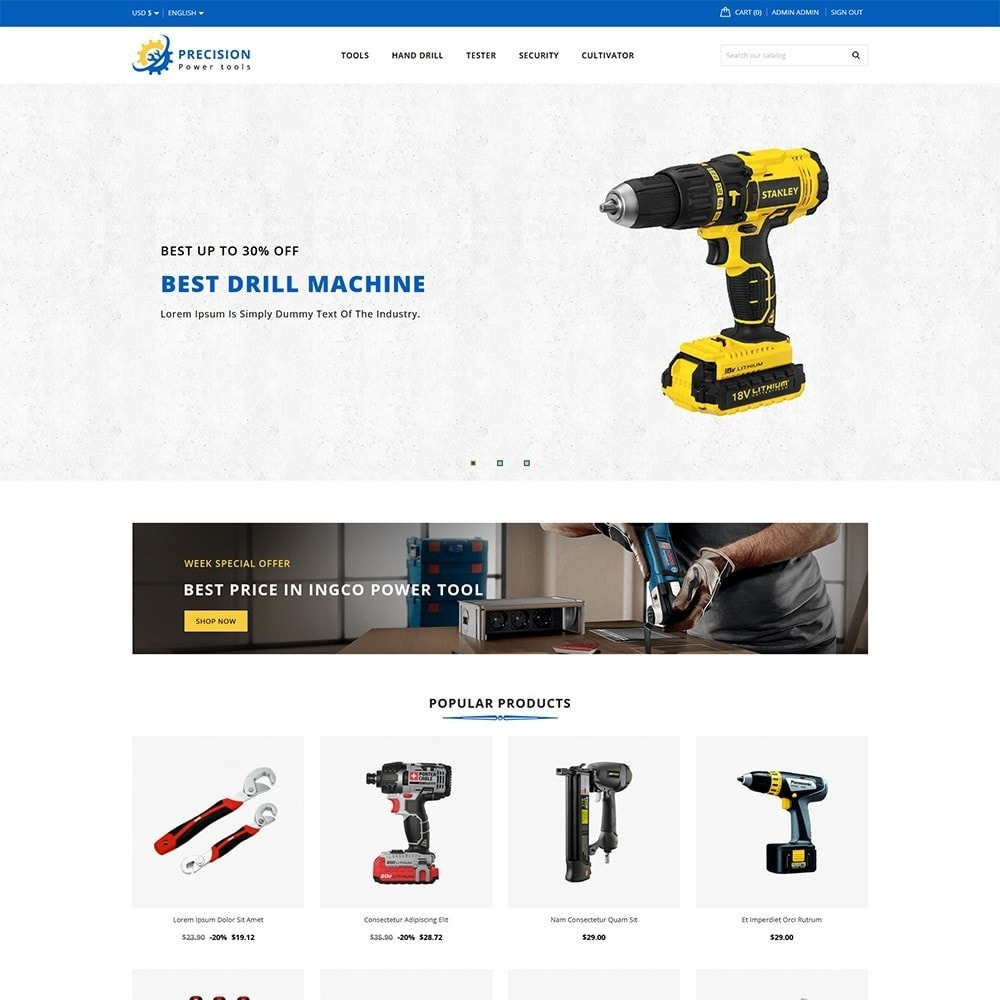 theme - Electronics & Computers - Precision Tools Shop - 2