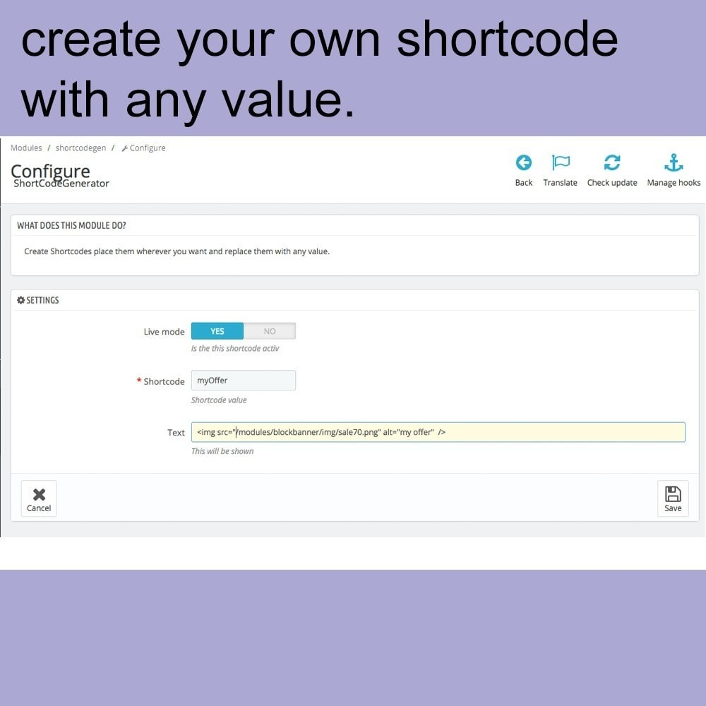 module - Marques & Fabricants - ShortCode Generator - 1