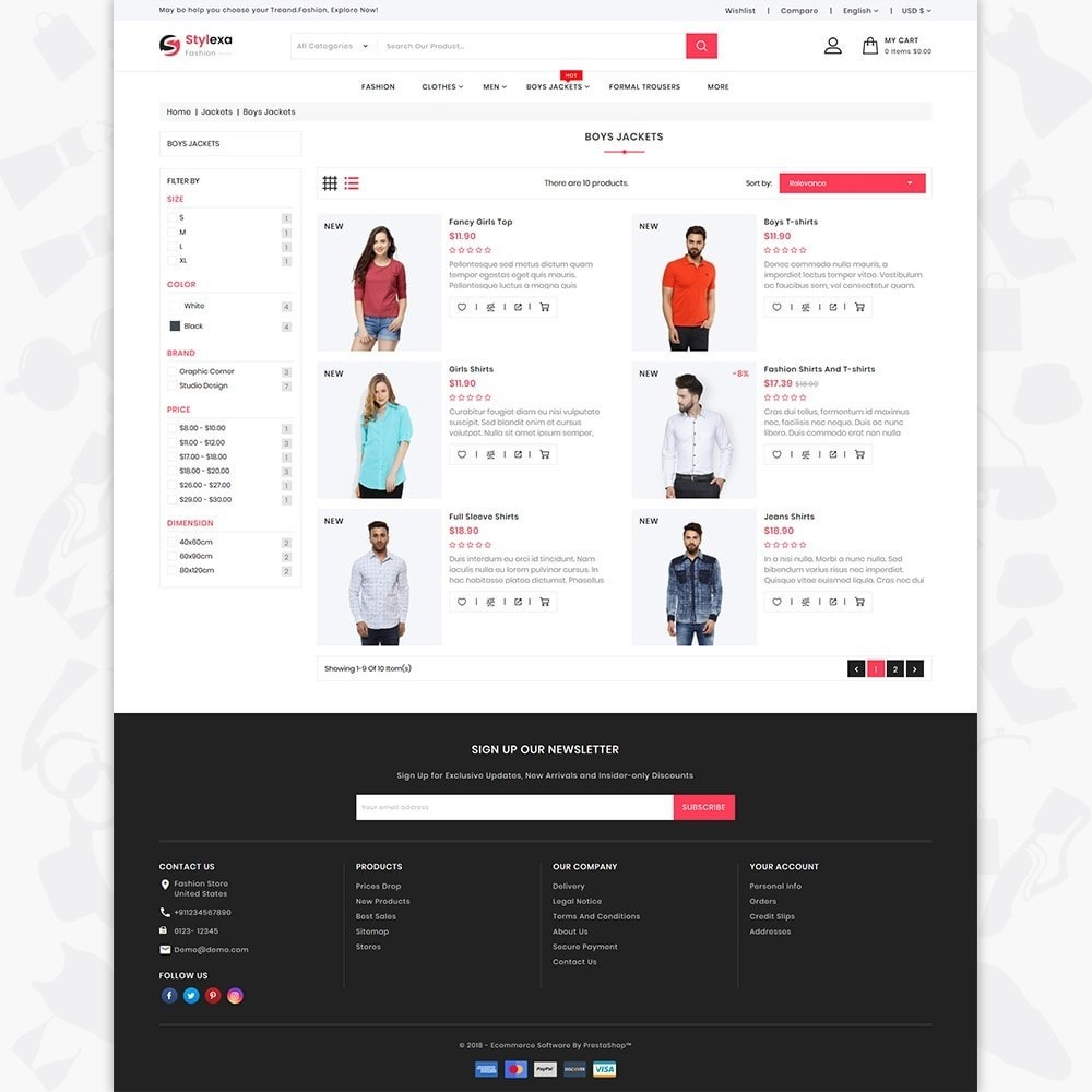 theme - Fashion & Shoes - Stylexa - The Fashion Store - 4