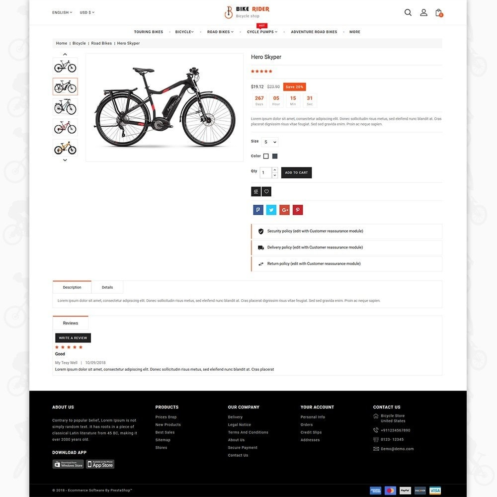 theme - Desporto, Actividades & Viagens - Bike Ryder - The Bicycle Store - 5