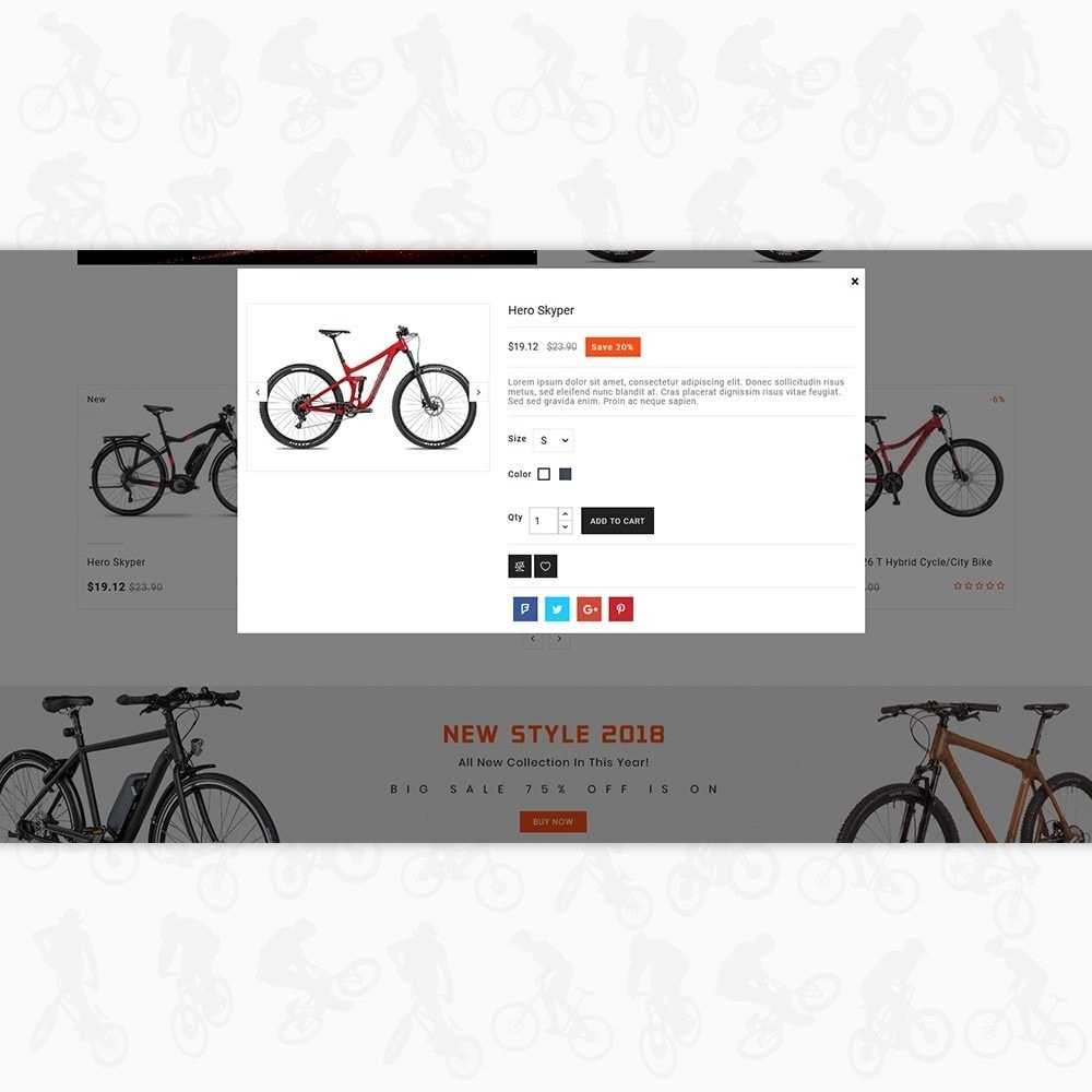 theme - Desporto, Actividades & Viagens - Bike Ryder - The Bicycle Store - 7
