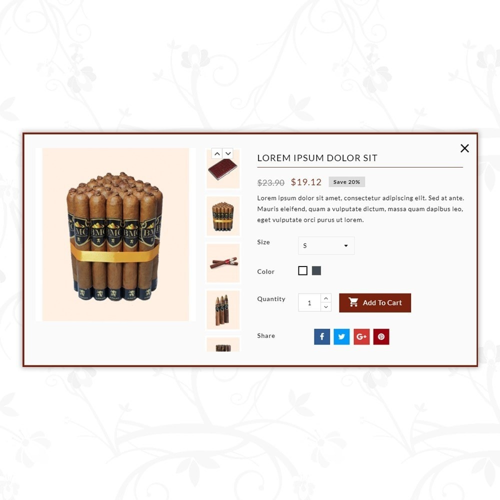 theme - Напитки и с сигареты - Humidor - Cigar Store - 7