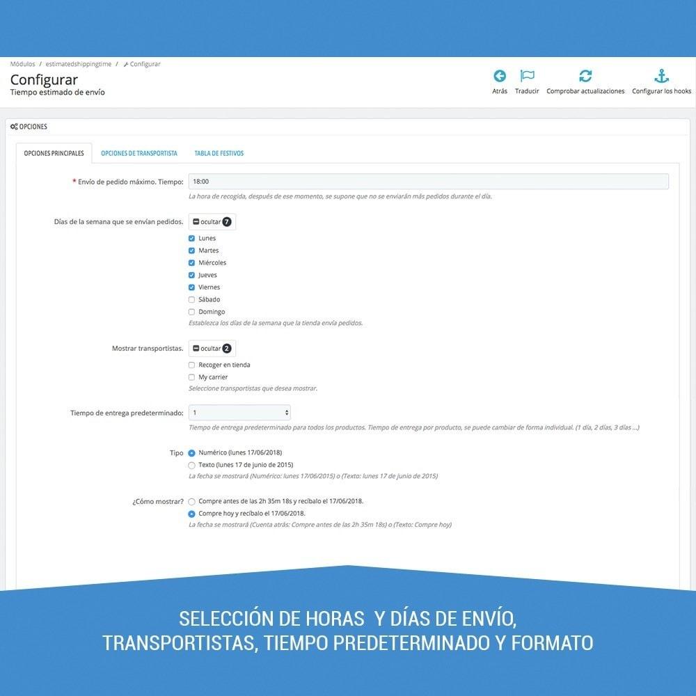 module - Fecha de entrega - Tiempo de entrega estimado - 3