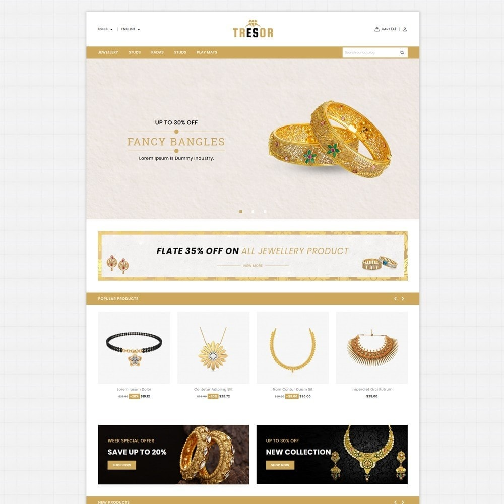 theme - Jewelry & Accessories - Tresor Jewellery Shop - 2
