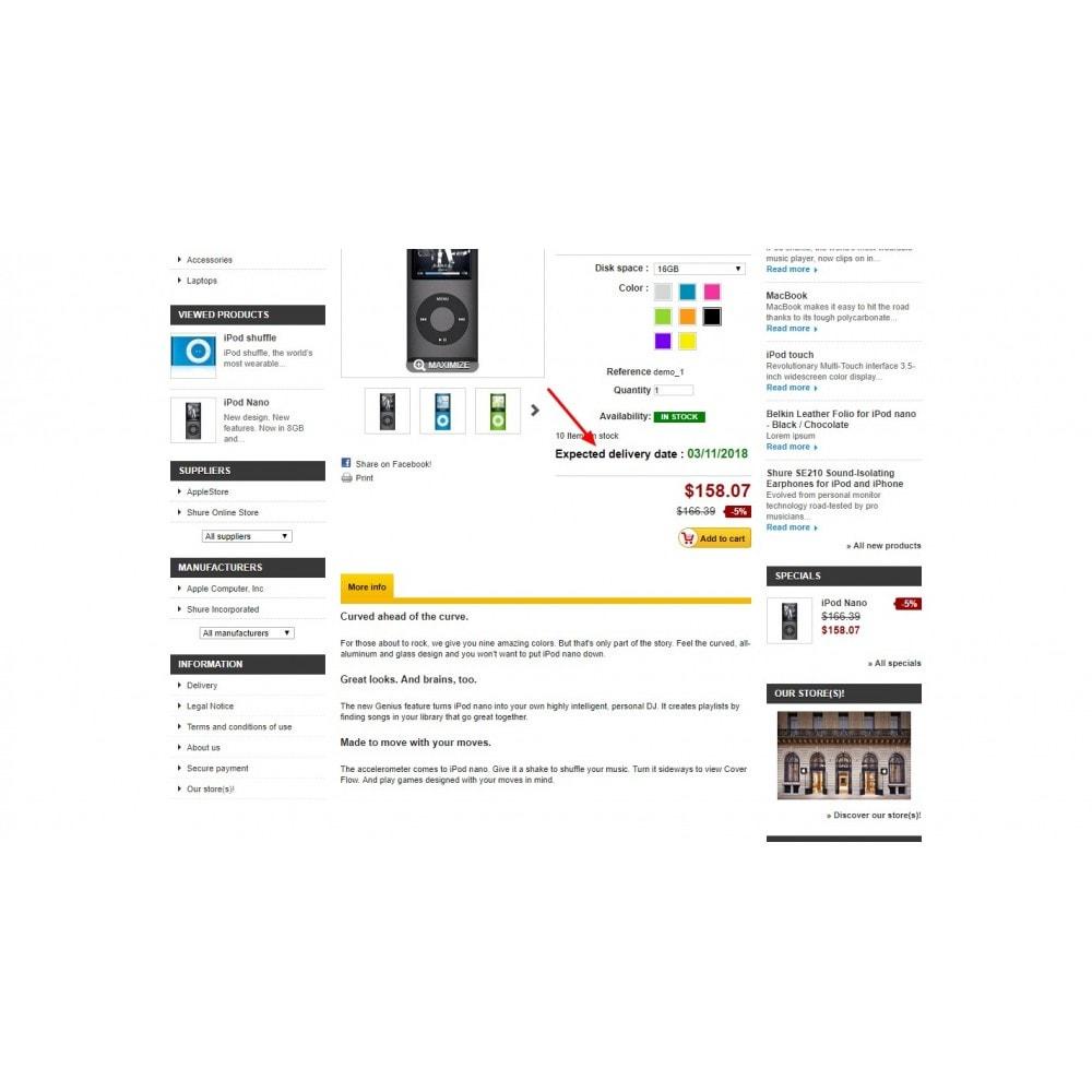 module - Lieferdatum - Shipping Estimated  Per Product - 5