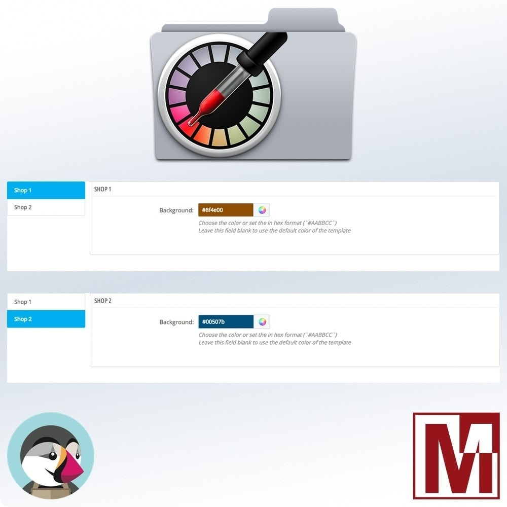 module - Administrative Tools - Multi Shop - Customized TopBar Backoffice Color - 2