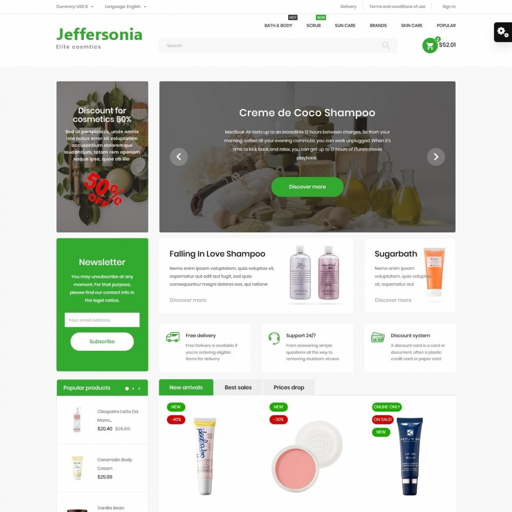 theme - Health & Beauty - Jeffersonia Cosmetics - 2