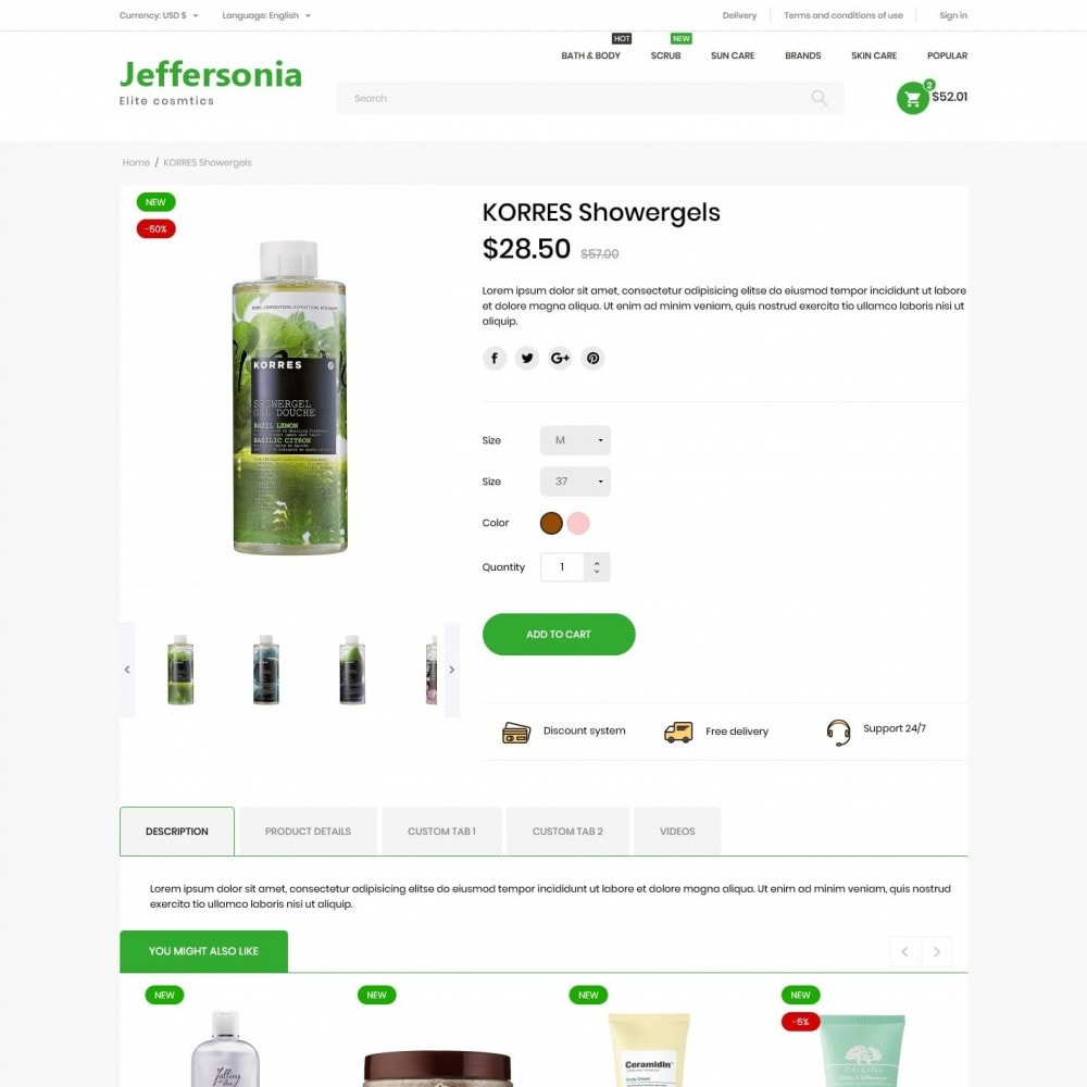 theme - Health & Beauty - Jeffersonia Cosmetics - 6
