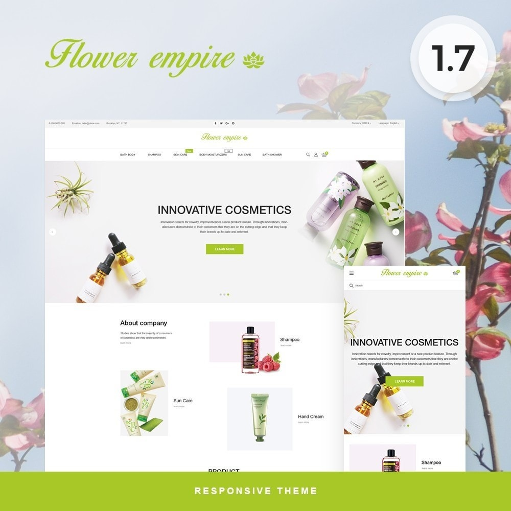 theme - Health & Beauty - Flower empire Cosmetics - 1
