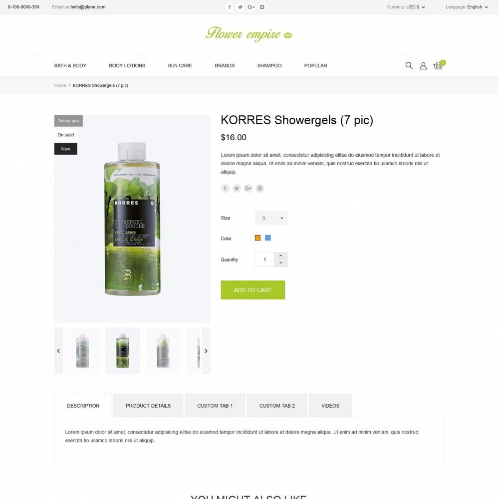 theme - Health & Beauty - Flower empire Cosmetics - 6