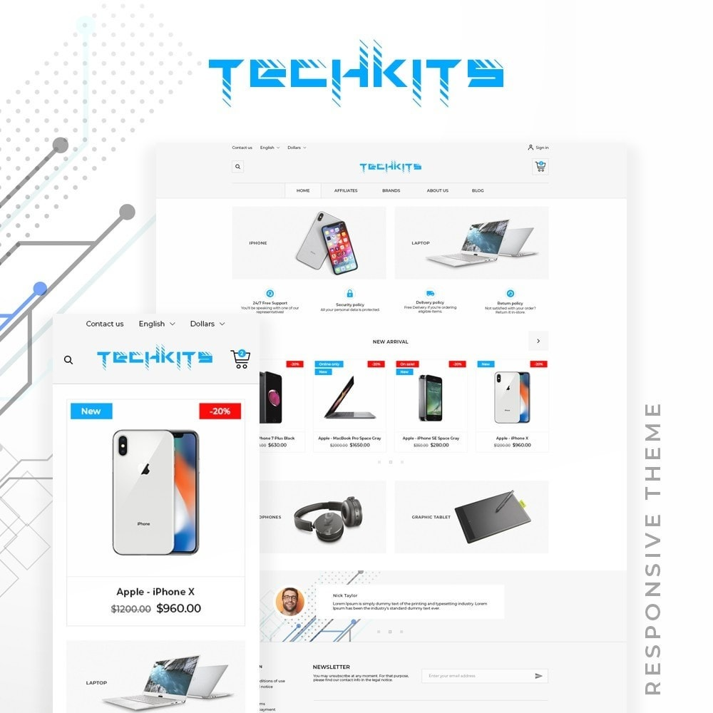 theme - Electronics & Computers - TechKits - High-tech Shop - 1
