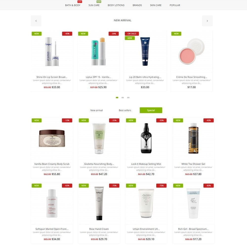 theme - Health & Beauty - Aura Cosmetics - 3