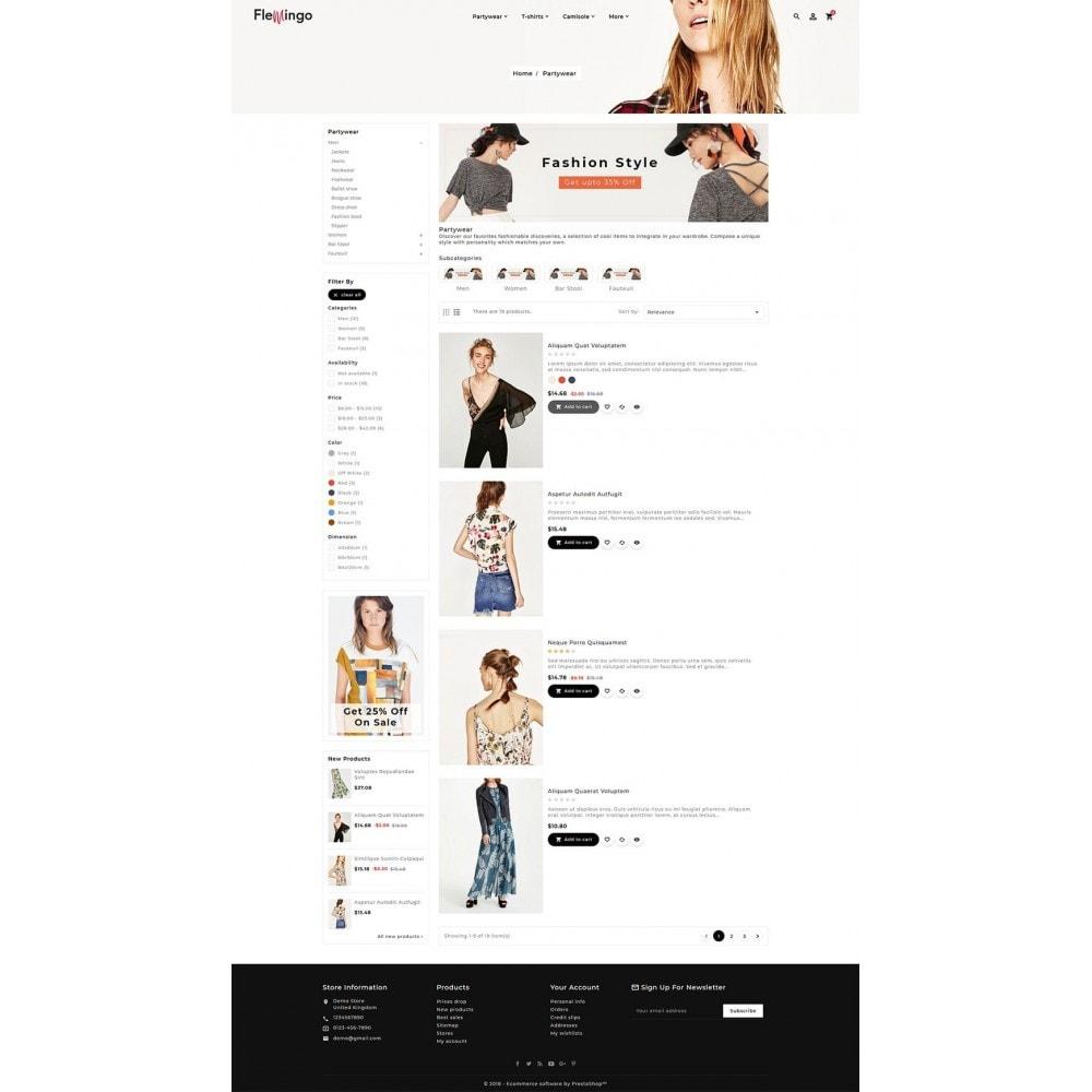 theme - Fashion & Shoes - Floral Flamingo & Fashion Apparels - 4