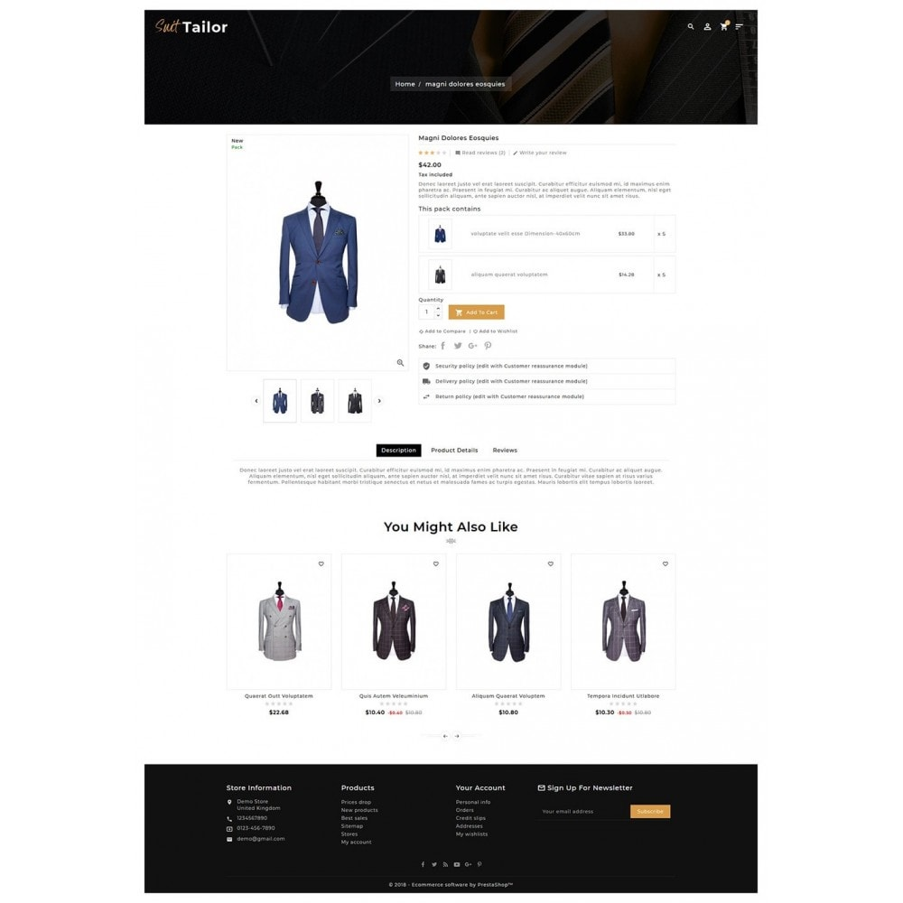 theme - Fashion & Shoes - Floral Suit & Tailor - 5