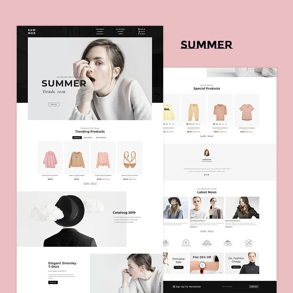 theme - Fashion & Shoes - Floral Summer Style - 2