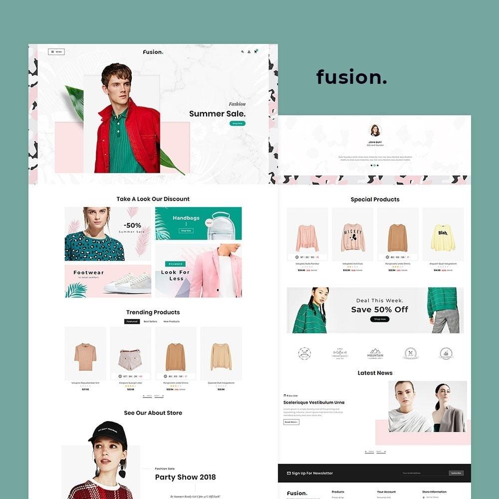 theme - Fashion & Shoes - Fashion Fusion - Floral Look - 2