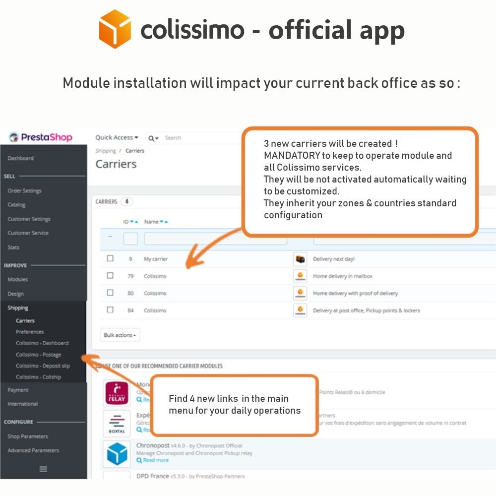 module - Shipping Carriers - Colissimo - Official app: your shipments with Colissimo - 3