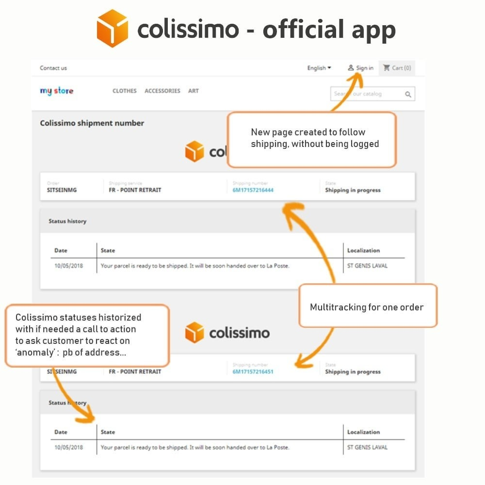 module - Vervoerder - Colissimo - Official app: your shipments with Colissimo - 19