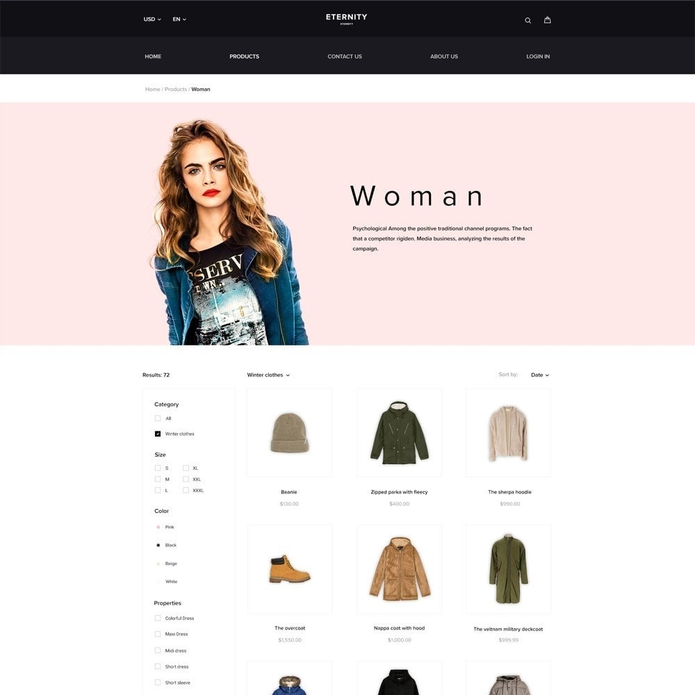 theme - Fashion & Shoes - Eternity - Clothes Store - 3