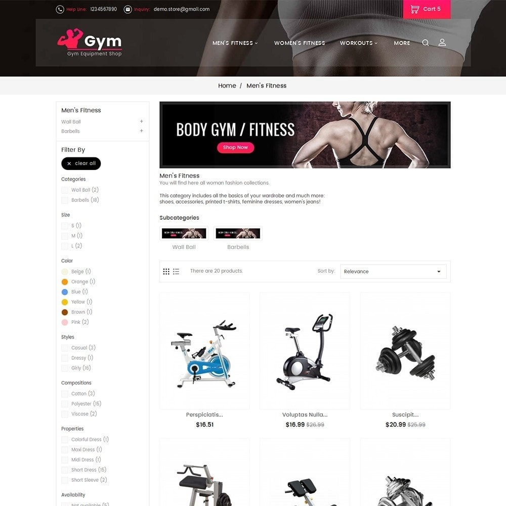 theme - Sports, Activities & Travel - Gym Equipment Store - 6